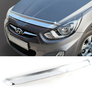 Chrome Bonnet Hood Guard Garnish K896 For Hyundai 2011 2016 Solaris Accent Verna