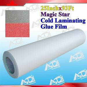 Magic Star 0 69x31yard 3mil Photo picture Laminating Adhesive Glue Effect Cold