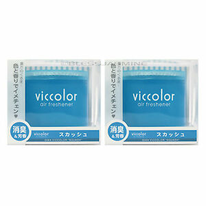 2 Pack Japan Diax Viccolor Squash citrus Woody Musk Scent Jdm Air Freshener