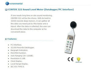 Center 322 Sound Level Meter datalogger
