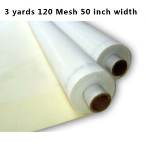 3 Yards 120m 48t Silk Screen Printing Mesh Fabric White Color 50 Inch Width