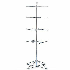 Retail Display Hanging Floor Spinner Rack 4 tier Wire 63 h