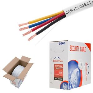 Fire Security Wire Burglar Alarm 22 4 Awg Cable 1000ft Stranded White Cable