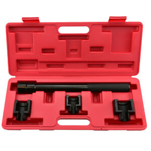 Inner Tie Rod Removal Set 4pc Mechanics Installation Tool Dual Socket Adapter