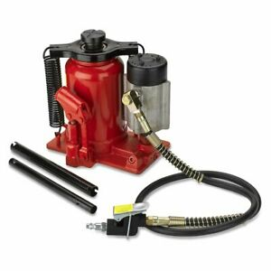 New 20 Ton Air Low Profile Manual Hydraulic Bottle Jack 40 000 Lbs
