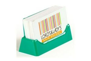 32 Teal green Acrylic styrene Plastic Business Card Holders Free Shipping