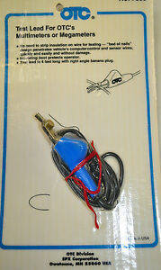 Otc 7389 Bed Of Nail Test Lead W right Angle Banana Plug For Multimeter Usa Made