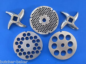 32 Set Meat Grinder Sausage Stuffing Stuffer 3 Plates 2 Knife For Hobart Et