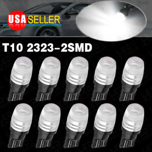 10x White T10 2323 Led High Power Dome Interior Lights Bulb W5w 168 192 194 2825