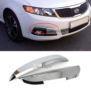 Chrome Fog Lamp Cover Garnish Molding 2pcs Trim For Kia 2009 2010 Optima Lotze