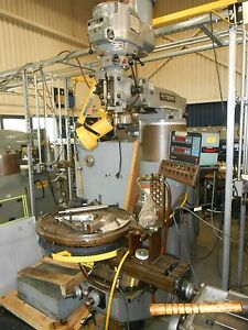 Bridgeport Series I W Dro And Servo Power Feed Rotary Table Fully Functional