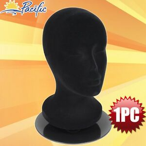Female Foam Black Mannequin Head Holder Stand Display Wig Hat Glasses 11