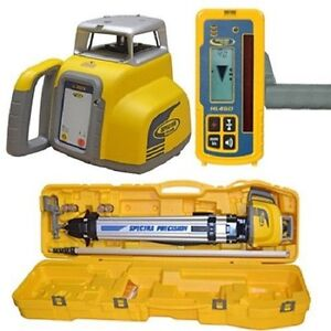 Spectra Ll300 N2 Automatic Self leveling Laser Level W hl450 Receiver Rod Tripod