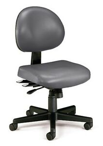 Anti bacterial Charcoal Vinyl Medical Office Task Chair Doctor Office Chair