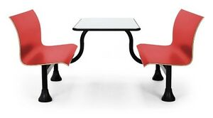 24 X 48 Restaurant Red Retro Bench W stainless Steel Table Top