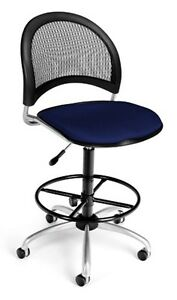Navy Moon Swivel Computer Task Chair With Drafting Kit Medical Office Chair