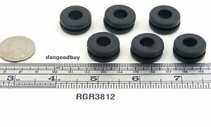 100 Rubber Grommets 3 8 Inner Diameter Fits 1 2 Panel Hole