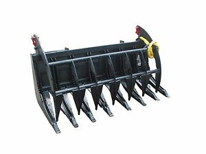 72 Bobcat E series Root Rake Grapple Skidsteer Attachment Free Shipping