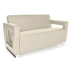 Distinct Series Anti microbial bacterial Soft Seating Office Lounge Cream Sofa