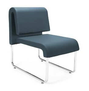 Uno Series Navy Anti microbial Anti bacterial Office Reception Lounge Chair