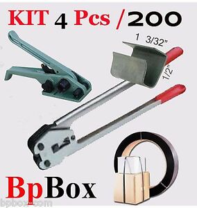 Strapping Poly Crimper tensioner And Cutter 1 2 To 5 8 200 Poly Kit4 Pcs