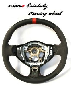 Nissan 370z Nismo Style Leather Alcantara Sport Steering Wheel Color Ring Top