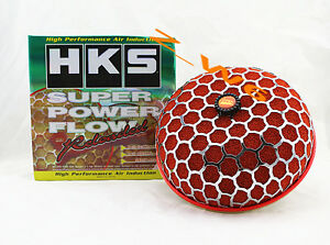 Hks 3 9 Inch Turbo Air Inlet Filter Red Jdm Super Power Flow Reloaded Kit 200mm