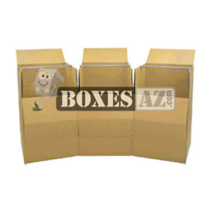 Moving Boxes 3 Wardrobe Boxes W bar Free Expedited Shipping