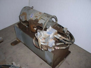 Aa 10 Hp Hydraulic Power Unit Tank Mtd 3 000 Psi Simon Lift
