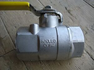 Apollo Stainless Steel Ball Valve 1 1 4 Inch 2 Piece Body Npt Ss 1 1 4
