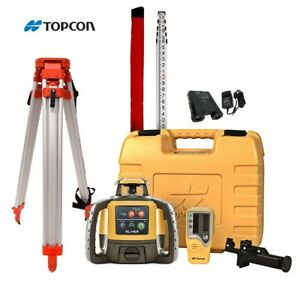 Topcon Rl h5a Construction Laser Level Rechargeable Kit With Tripod And 16 Rod