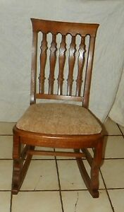 Quartersawn Oak Sewing Rocker Rocking Chair R174