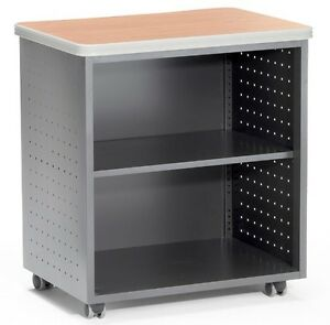 Maple Mobile Utility Table With Shelf 27 50 X 19 75