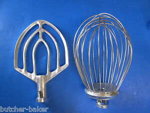 2 Pc Set 12 Quart Bakery Mixer Wire Whip Whisk Flat Beater For Hobart A120 125