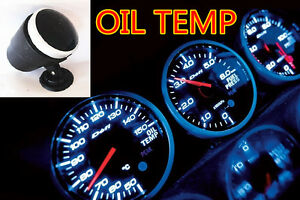 Jdm Car Truck Blue Led Racer Electronic Water Oil Temperature Gauge Meter