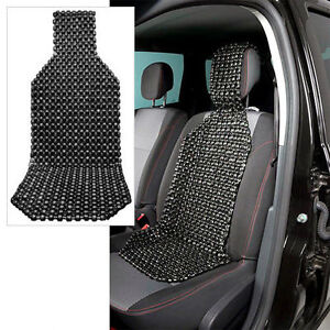 Wood Beaded Car Seat Cushion Car Seat Cover Massager Black Us Seller