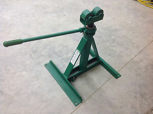 New Greenlee 656 Ratchet Type Reel Stand 3750 Lb Cap Local Pickup Only