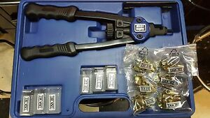 Astro Pneumatic Nut Thread Hand Riveting Tool Kit With Case Rivet Nut 1442