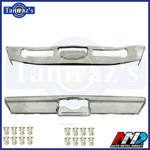 1968 1969 Coronet Front Rear Bumper Kit Triple Chrome Plated W Bolts Amd