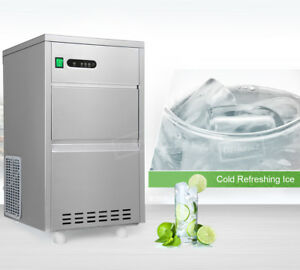 27kg 24h Countertop Ice Maker Portable Stainless Steel Machine Good Taste
