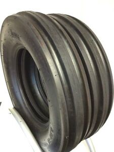 Two 600 16 Tractor Tires Three Rib W tubes F2 Tri Rib 6 00 16 3 Rib