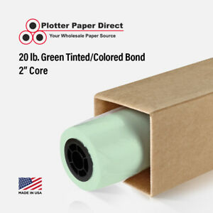 4 Rolls 36 X 150 20lb Green Colored Bond Plotter Paper For Wide Format Inkjet
