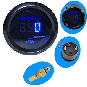 Hotsystem Black 2 52mm Digital Led Oil Temp Temperature Gauge Meter