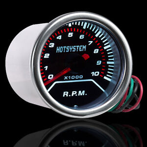2 1 16 Inch 52mm Smoke Len Pointer Car Motor Tacho Tachometer Gauge Meter Cg12