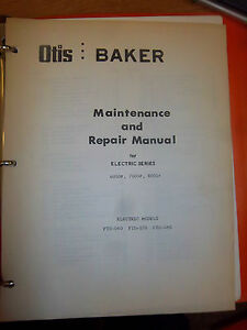 Baker Fork Lift Truck Repair Maintenance Manual ftd 060 Ftd 070 Ftd 080 bobcat