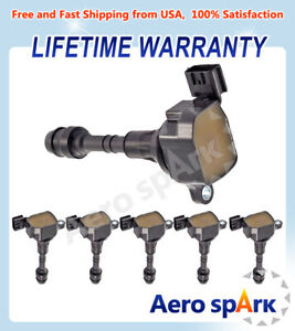 6pcs Ignition Coils Uf349 For 2002 2006 Nissan Altima 3 5l 05 16 Frontier 4 0l