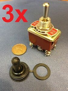 3 Pieces red Dpdt Momentary Switch On off on Motor Reverse Polarity Dc Moto