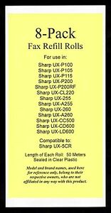 8 pack Of Ux 5cr Fax Refills For Sharp Ux 255 Ux a255 Ux 260 Ux a260 Ux cl220