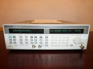 Agilent Hp 83752b 10mhz 20ghz High Power Synthesized Sweeper Signal Generator