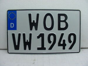 Mercedes Benz Mb License Plate Custom Your Text German Square Oldtimer Vw Audi